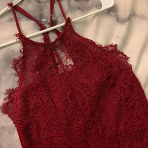 Free people red lace dress